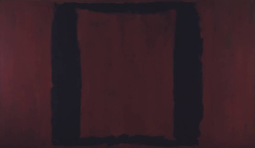 Black on Maroon 1959 by Mark Rothko